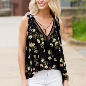 """Free People """"Love Potion"""" Floral Sleeveless Top"""